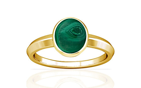 Malachite Gold Ring (A1)