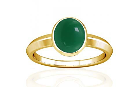 Green Onyx Gold Ring (A1)