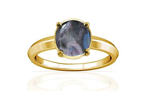 Black Opal Gold Ring (A1)