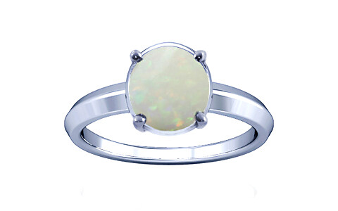 Opal With Fire Silver Ring (A1)