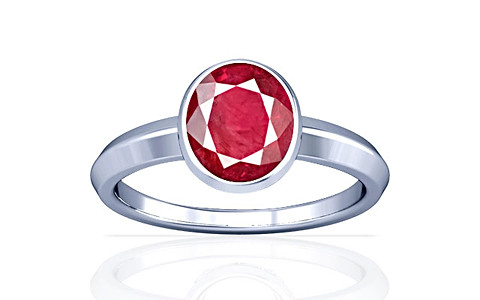 Ruby (Old Burma) Sterling Silver Ring (A1)