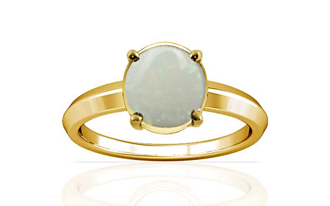 White Opal Gold Ring (A1)