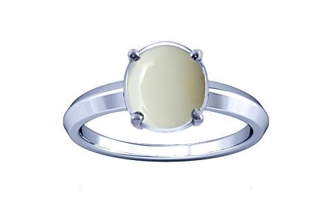 White Opal Silver Ring (A1)