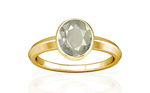 White Sapphire Gold Ring (A1)