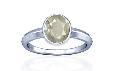 White Sapphire Silver Ring (A1)