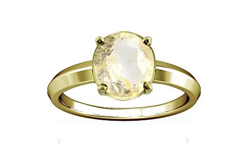 Yellow Topaz Panchdhatu Ring (A1)