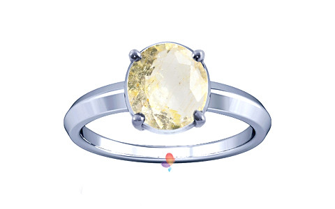Yellow Topaz Silver Ring (A1)