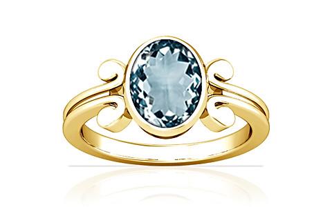 Aquamarine Gold Ring (A10)