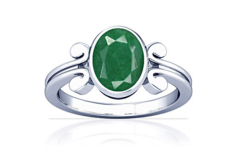 Green Beryl Sterling Silver Ring (A10)