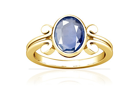 Blue Sapphire Gold Ring (A10)