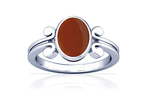 Carnelian Sterling Silver Ring (A10)