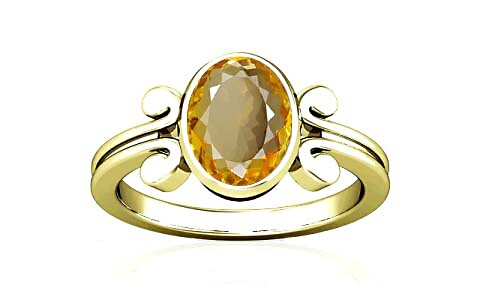 Citrine Panchdhatu Ring (A10)