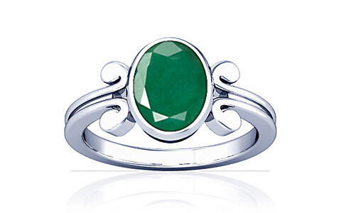 Emerald Silver Ring (A10)