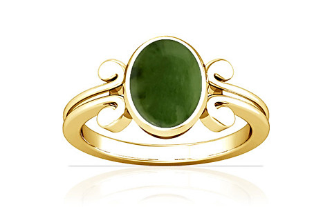 Nephrite Jade Gold Ring (A10)