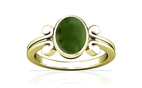 Nephrite Jade Panchdhatu Ring (A10)