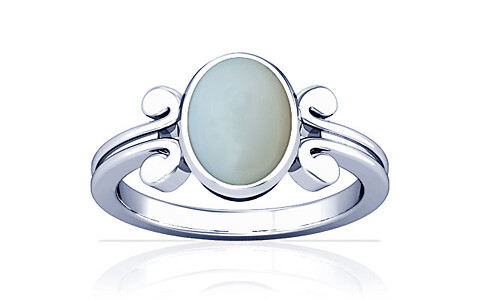 Moonstone Silver Ring (A10)
