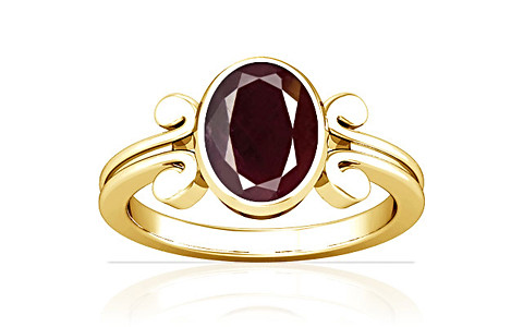 Indian Ruby Gold Ring (A10)