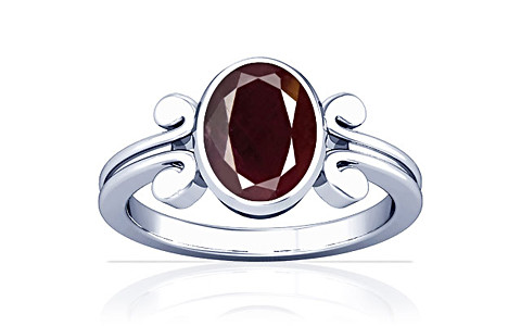 Indian Ruby Sterling Silver Ring (A10)