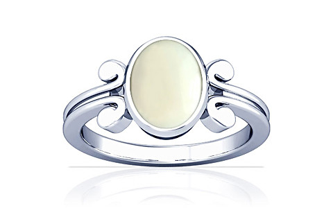 White Coral Silver Ring (A10)