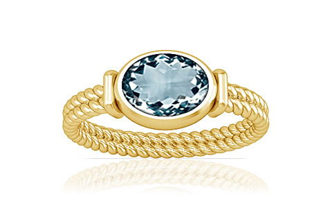 Aquamarine Gold Ring (A11)