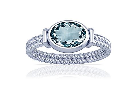 Aquamarine Silver Ring (A11)