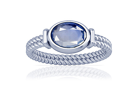 Blue Sapphire Silver Ring (A11)