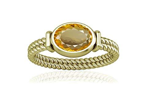 Citrine Panchdhatu Ring (A11)