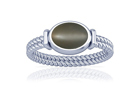 Gray Moonstone Silver Ring (A11)