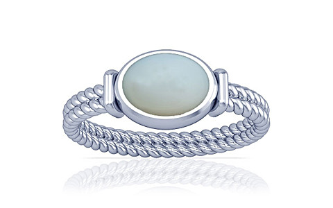 Moonstone Silver Ring (A11)