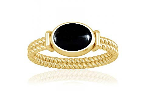 Black Onyx Gold Ring (A11)