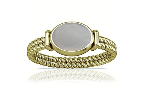 White Onyx Panchdhatu Ring (A11)