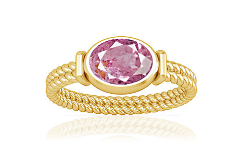 Pink Sapphire Gold Ring (A11)
