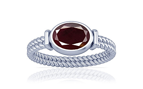 Indian Ruby Sterling Silver Ring (A11)