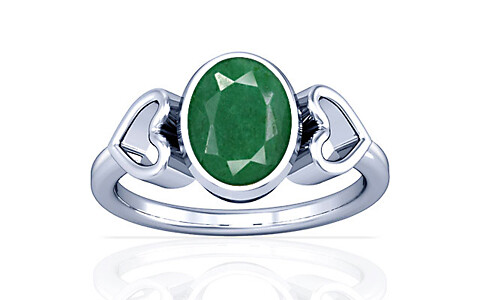 Green Beryl Sterling Silver Ring (A12)