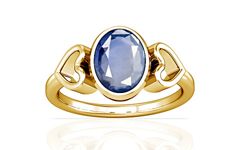 Blue Sapphire Gold Ring (A12)