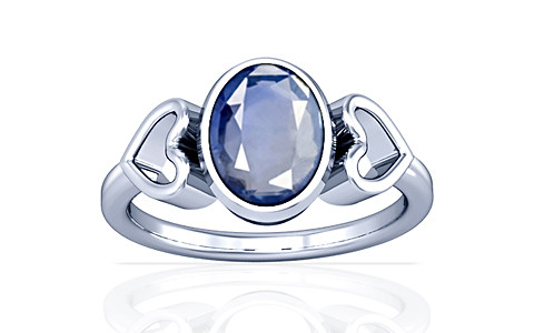 Blue Sapphire Silver Ring (A12)