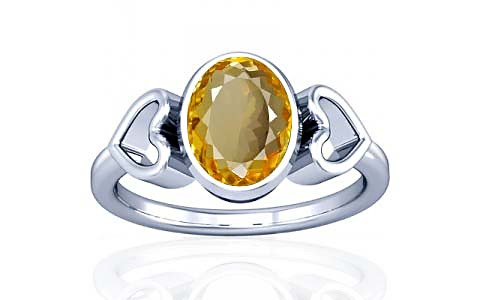 Citrine Silver Ring (A12)