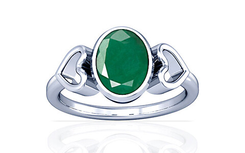 Emerald Silver Ring (A12)