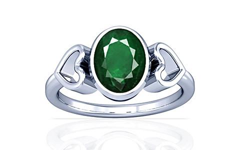 Emerald (Zambia) Silver Ring (A12)