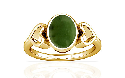Nephrite Jade Gold Ring (A12)