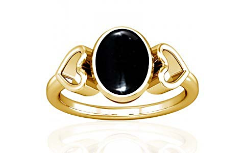 Black Onyx Gold Ring (A12)