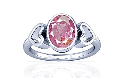 Pink Sapphire Sterling Silver Ring (A12)