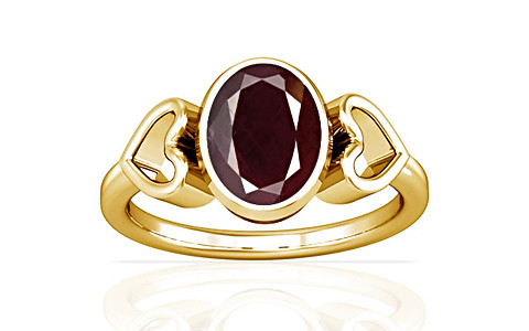 Indian Ruby Gold Ring (A12)
