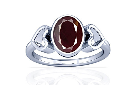 Indian Ruby Sterling Silver Ring (A12)