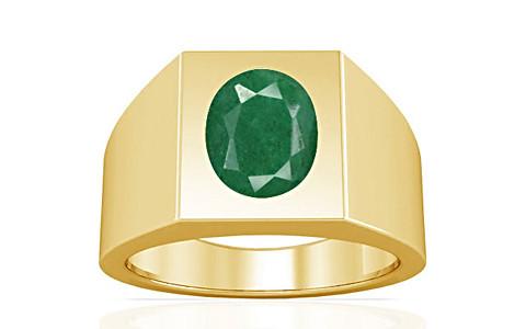 Green Beryl Gold Ring (A13)