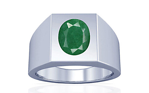 Green Beryl Sterling Silver Ring (A13)