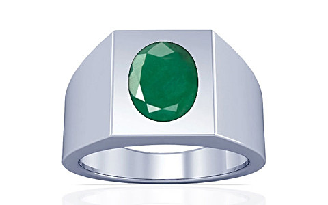 Emerald Silver Ring (A13)
