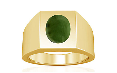 Nephrite Jade Gold Ring (A13)