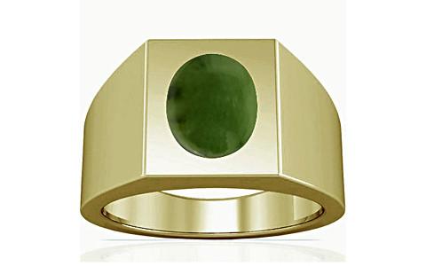 Nephrite Jade Panchdhatu Ring (A13)