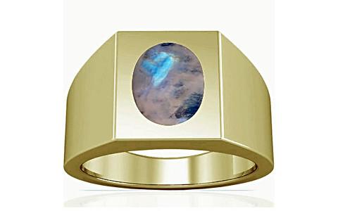 Rainbow Moonstone Panchdhatu Ring (A13)